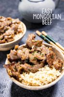 Easy Mongolian Beef that cooks in a wok in minutes