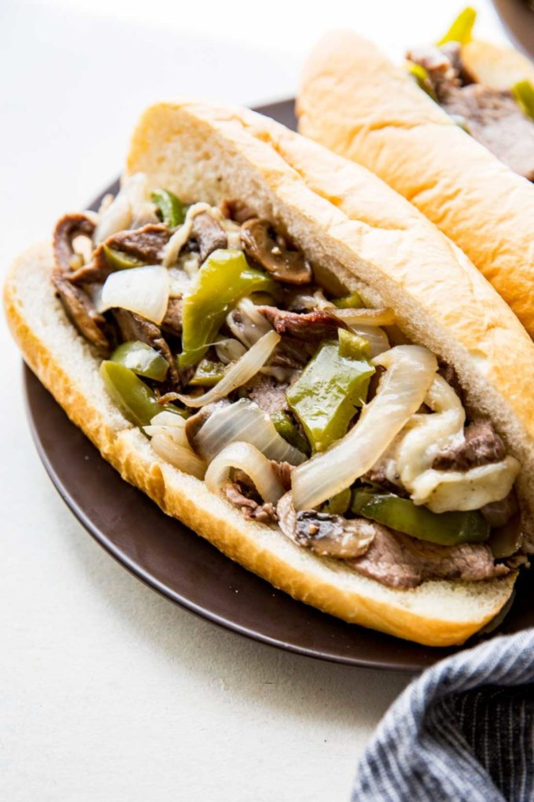 Sheet Pan Philly Cheese Steaks; easy to make Philly Cheesesteaks that are flavorful and delicious.