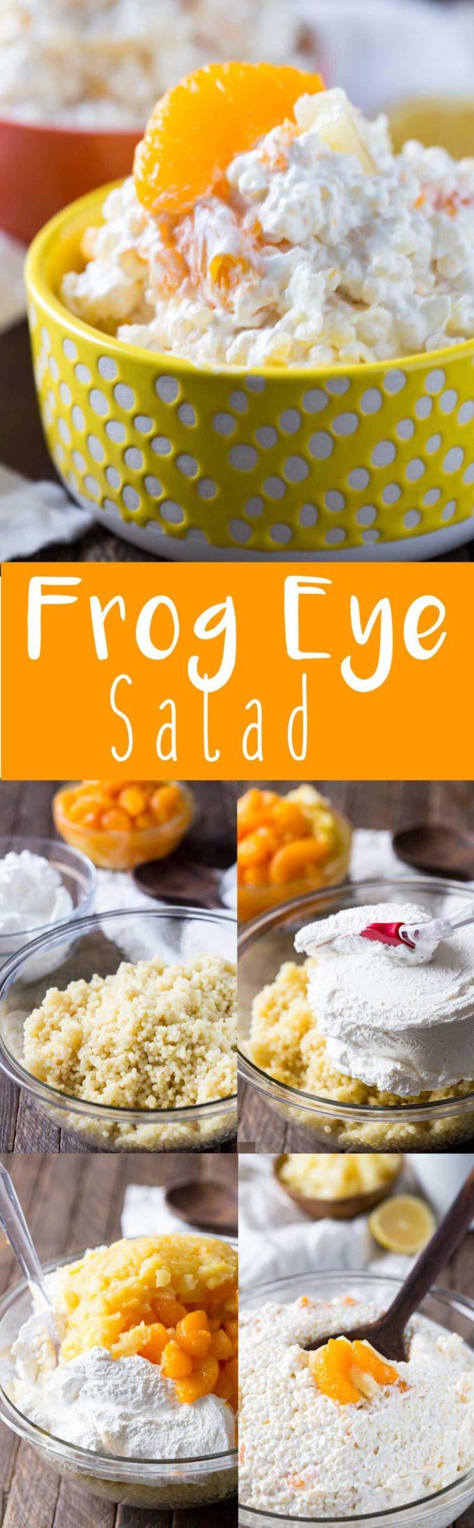 Creamy, tropical, fruity frog eye salad