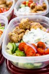 Greek chicken meal prep bowls are easy to make and deliciously healthy.