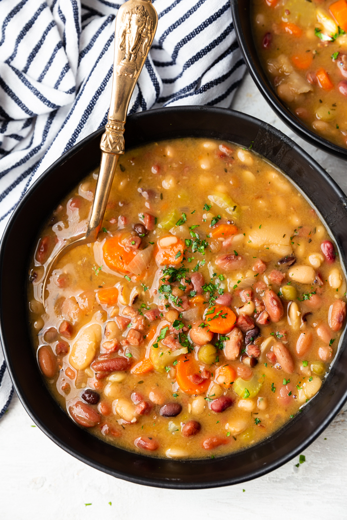 instant pot ham and bean soup