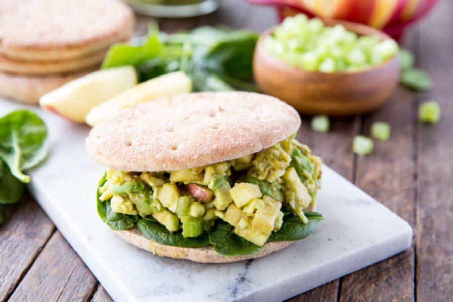Light Chicken Salad Sandwiches