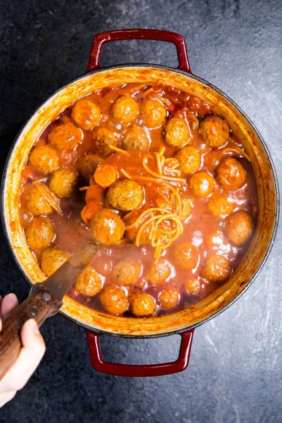 Meatball soup, Italian Meatball Soup is a classic soup recipe with delicious meatballs, veggies, and noodle in a tomato based broth.