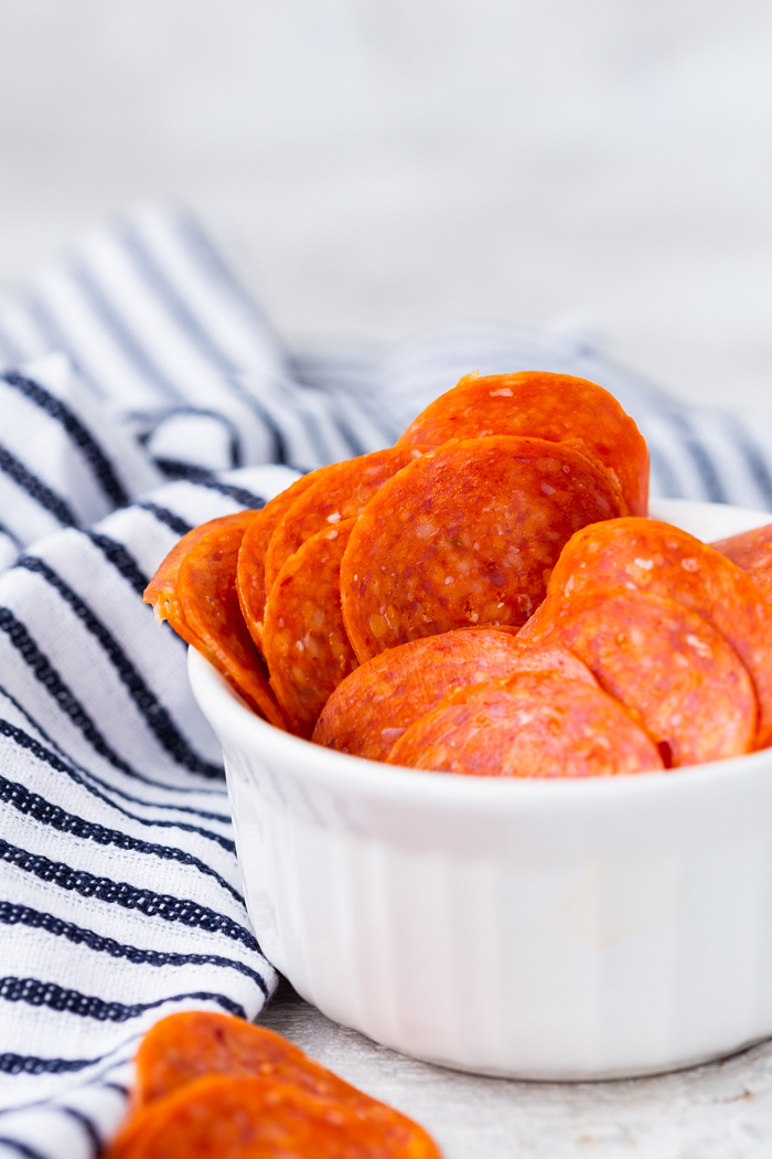 Pepperoni is a great low carb snack