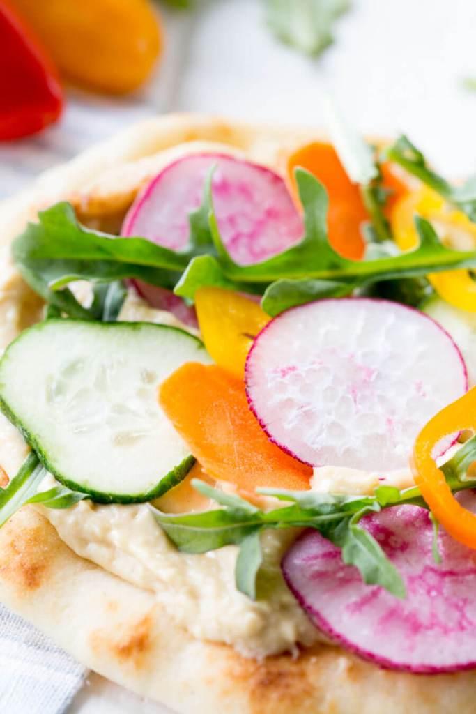 Vegetable Hummus Flatbread