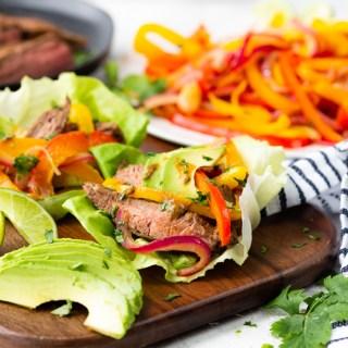 steak fajita lettuce wraps