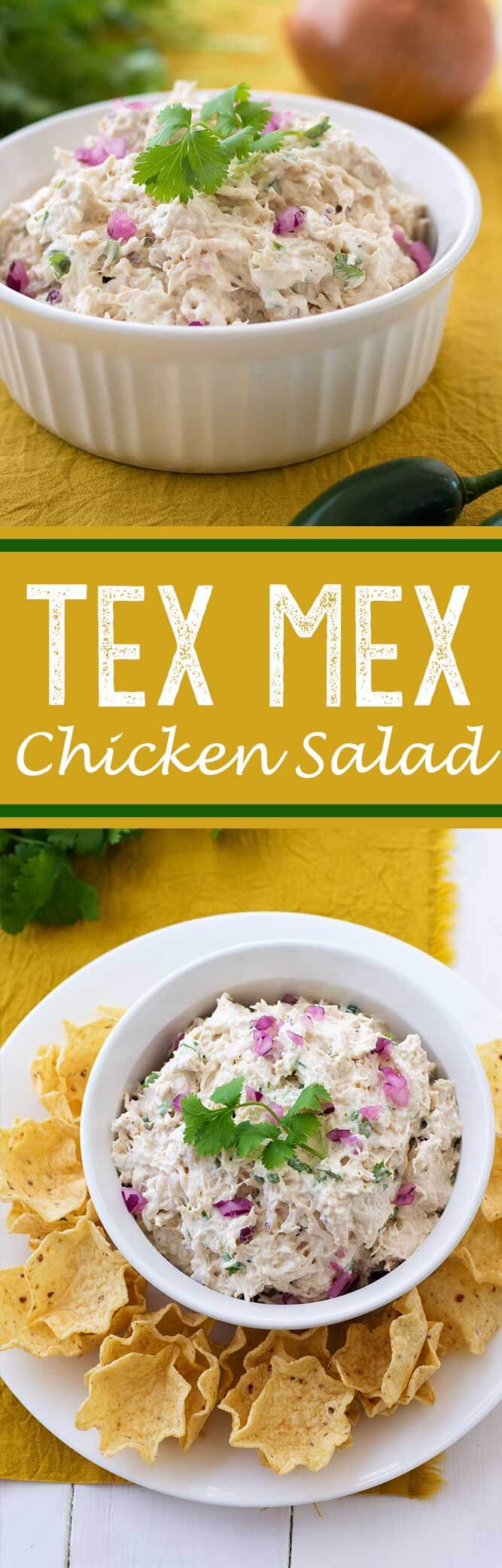 TEX MEX Chicken Salad makes for great sandwiches.