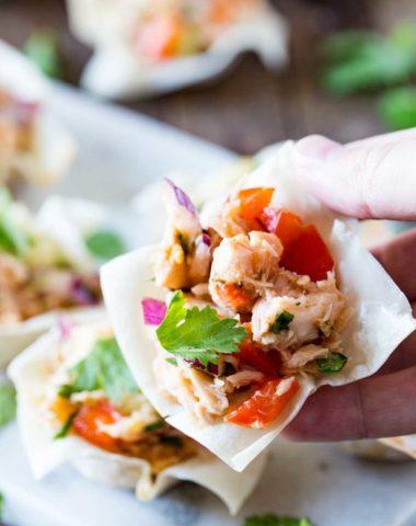 A perfect appetizer: Thai tuna Wonton Cups!