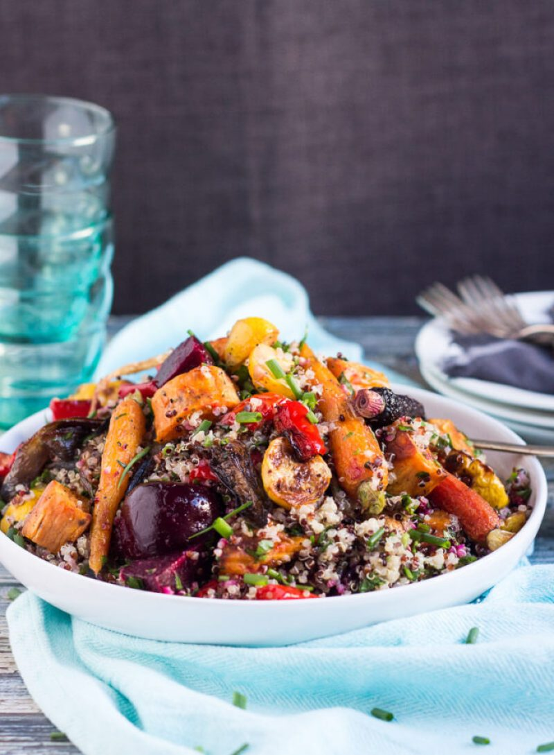 Quinoa and Roasted Vegetable Salad hero