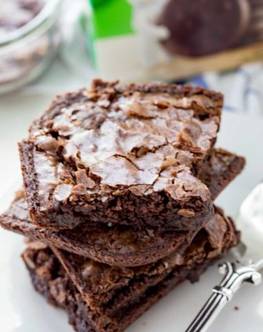 Thin mint brownies are absolutely delicious