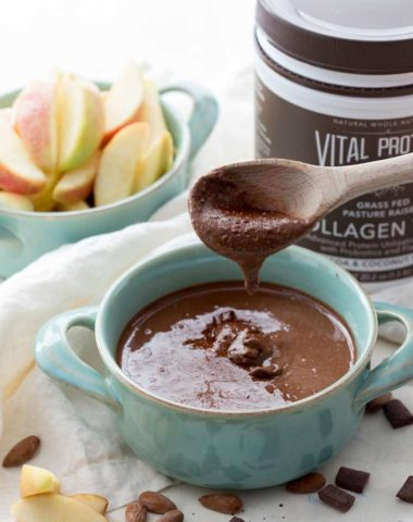 Easy Homemade chocolate almond butter with an extra protein kick