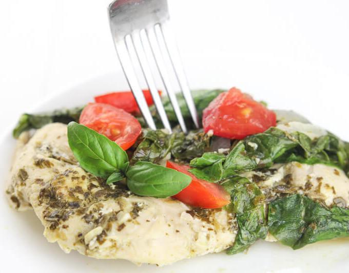 Spinach tomato pesto chicken