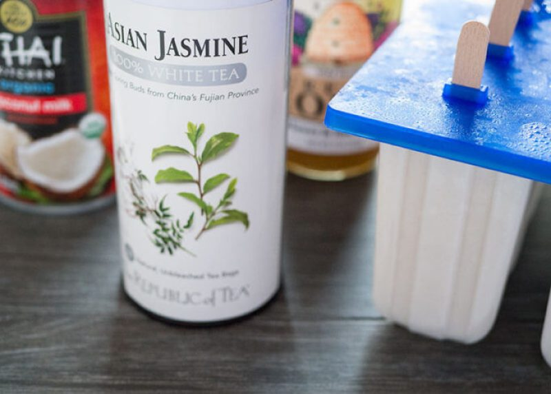 Try these creamy coconut popsicles infused with jasmine tea for dessert. Always on the lookout for a healthy frozen treat with no refined sugar.