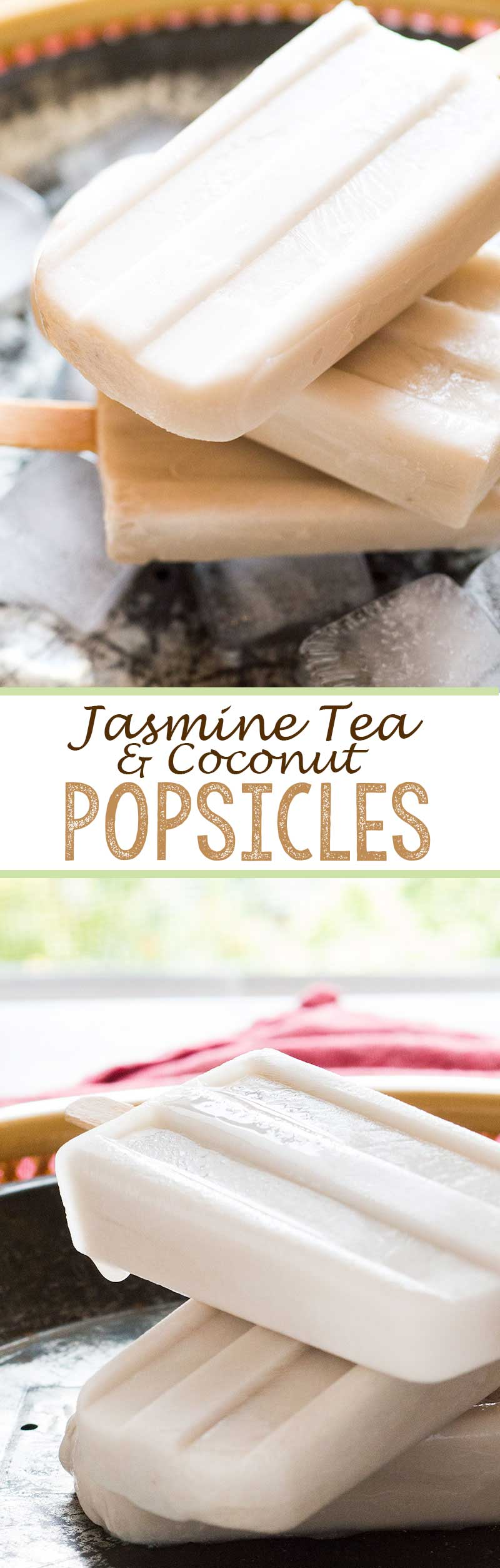 jasmine tea and coconut popsicles