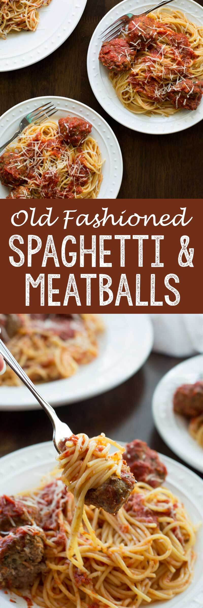 Old fashioned spaghetti and meatballs is better than grandma made and absolutely delicious