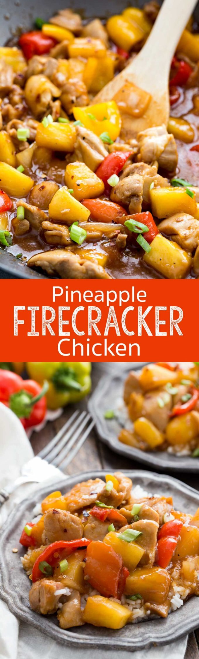 Pineapple Firecracker Chicken is a quick and easy 30 minute meal that offers a tantalizingly sweet and spicy sauce!