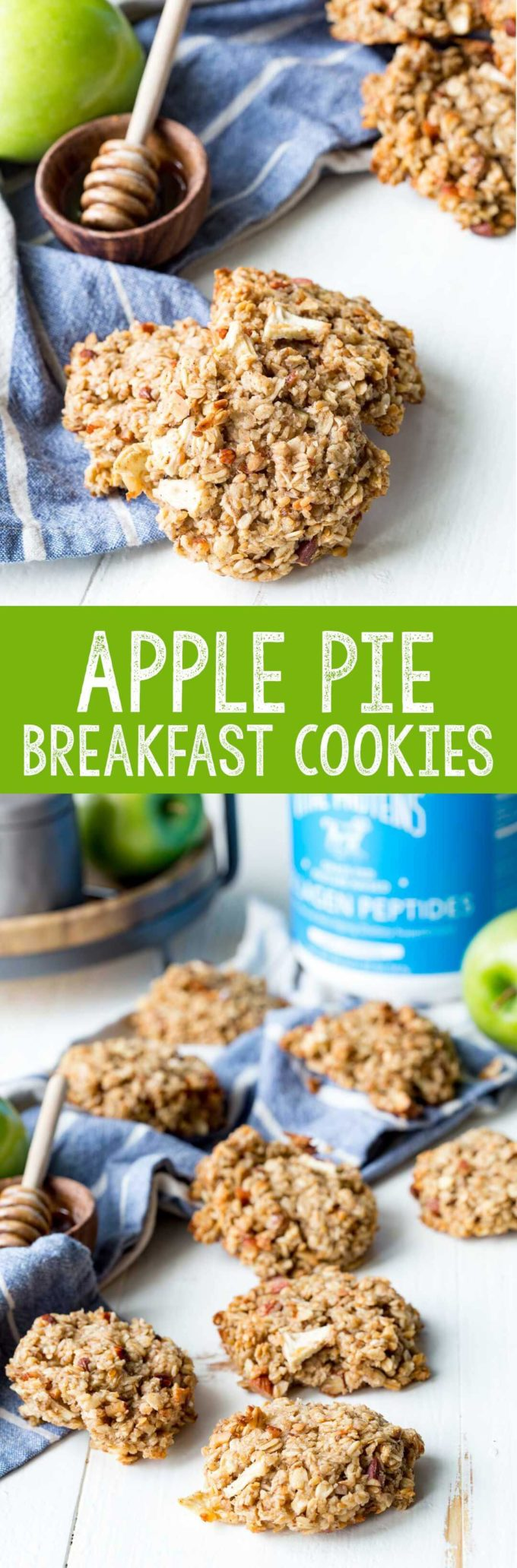 Apple Pie breakfast cookies are a healthy way to start the day