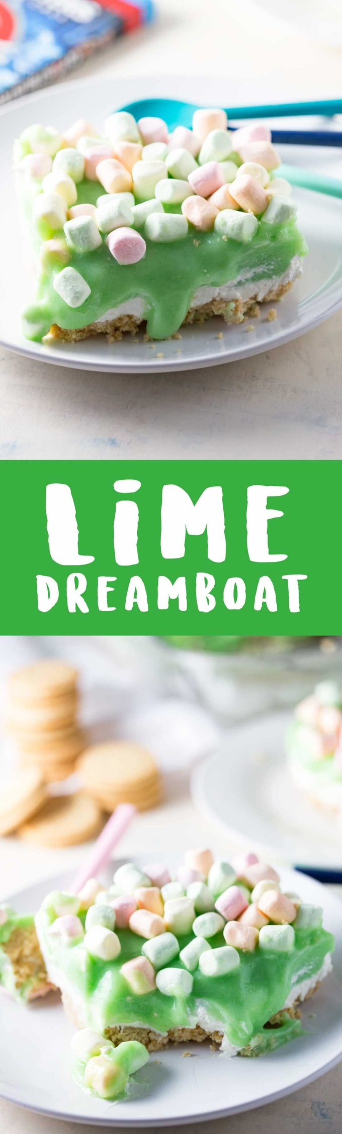 This creamy luscious dessert is a lime dreamboat, layers of yummy.