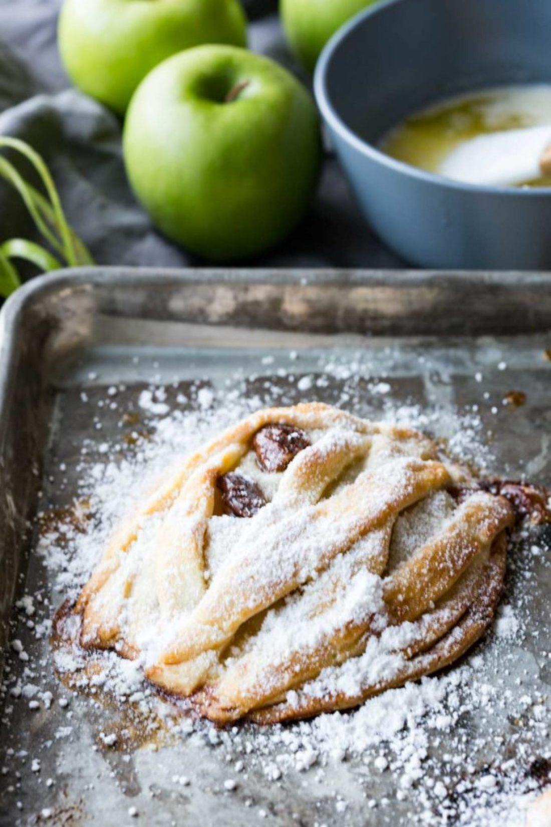 Mummy Apple Hand Pies with powdered sugar