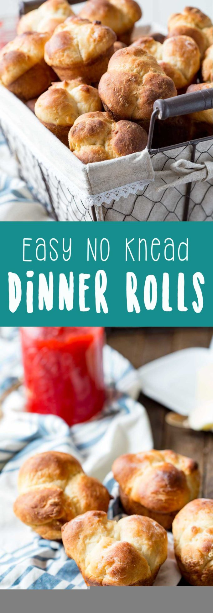 No knead easy dinner rolls are perfect for your Thanksgiving feast