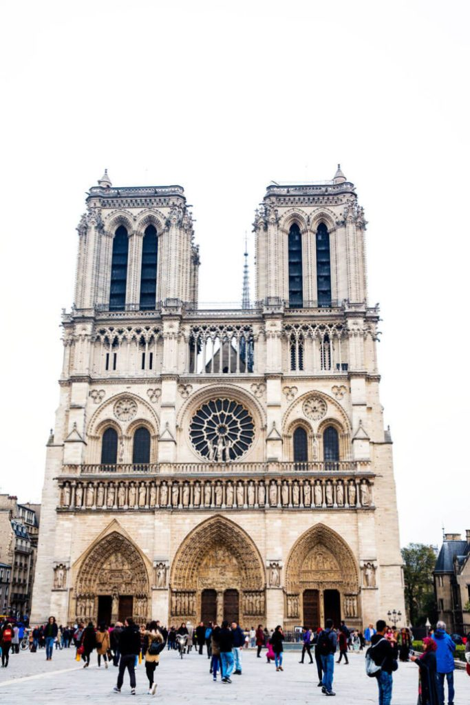 The beautiful building of Notre Dame