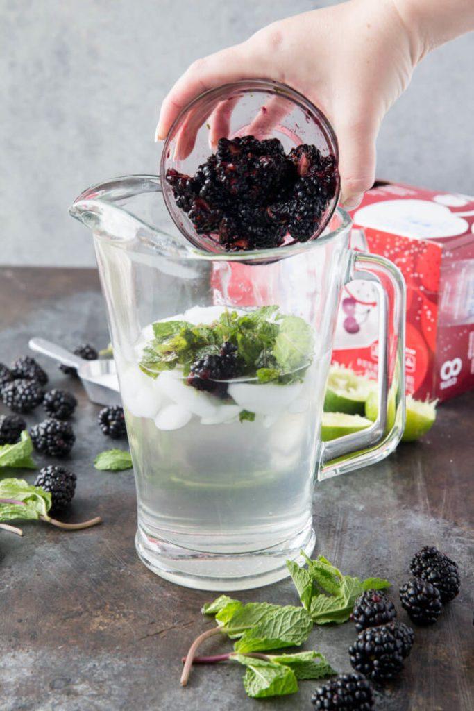 Blackberries are great for mocktails