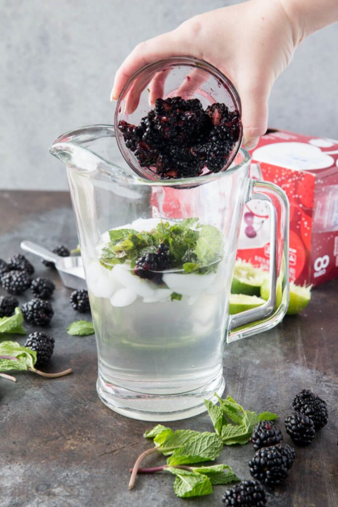Blackberries are great for mocktails