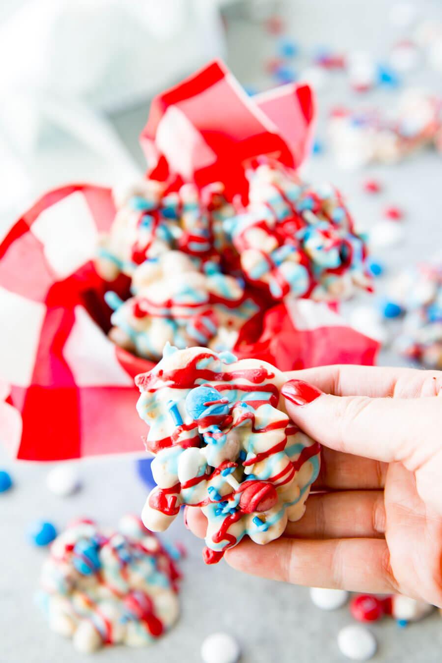 Crock Pot Candy: Peanut Clusters made festive