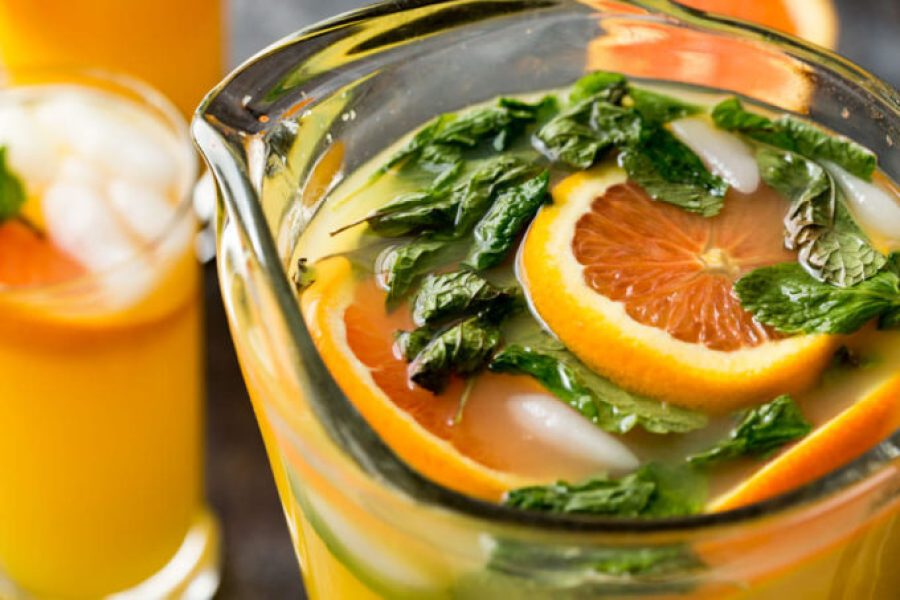 Mango Orange Mojito pitcher is a refreshing summer drink and alcohol free