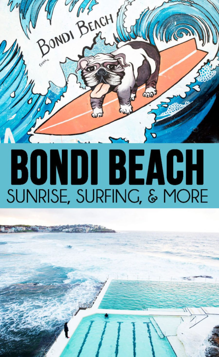 Spending a day at Bondi Beach, surfing, sunrises, and so much more