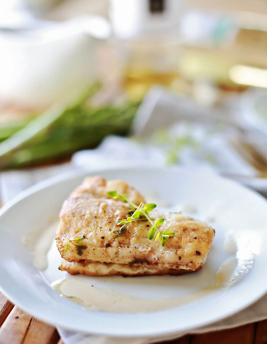 Haddock Recipes with browned butter white wine sauce: Flaky haddock pan fried, and served with a browned butter white wine sauce. Amazingly flaky fish, with a gourmet flavor, prepared in 20 minutes or less. This simple but elegant meal is sure to be a hit!
