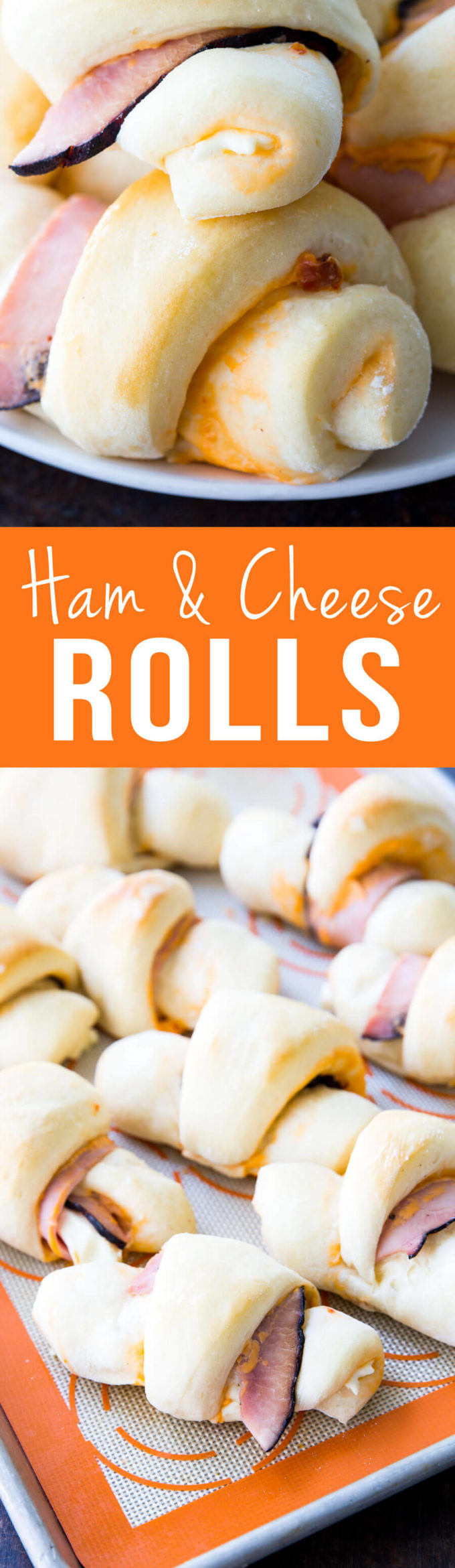 Ham and Cheese Rolls are the best dinner! So easy and majorly delicious.