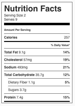 Homemade Toaster Waffles Nutrition Facts
