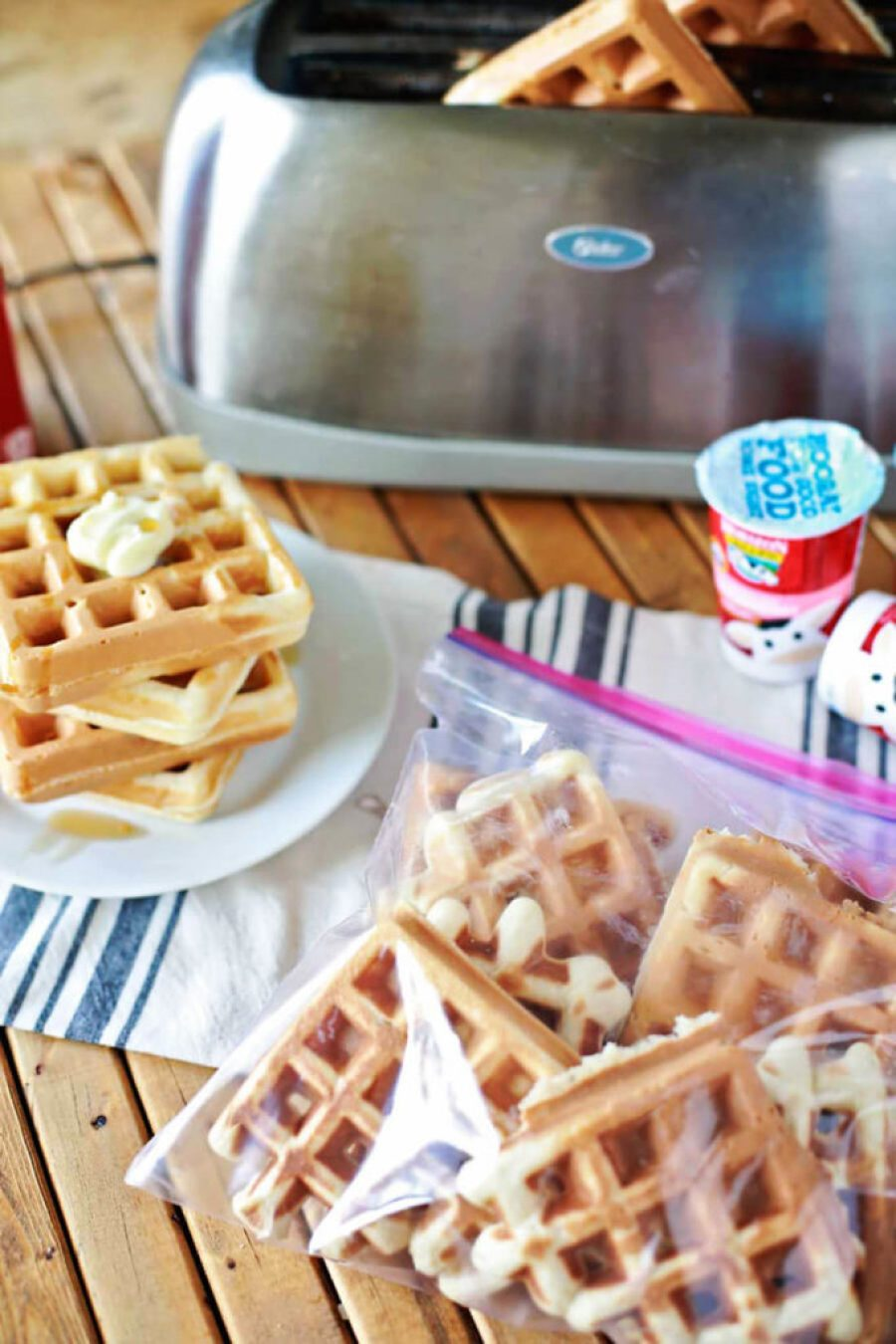Homemade toaster waffles to make ahead and freezer, perfect for back to school mornings