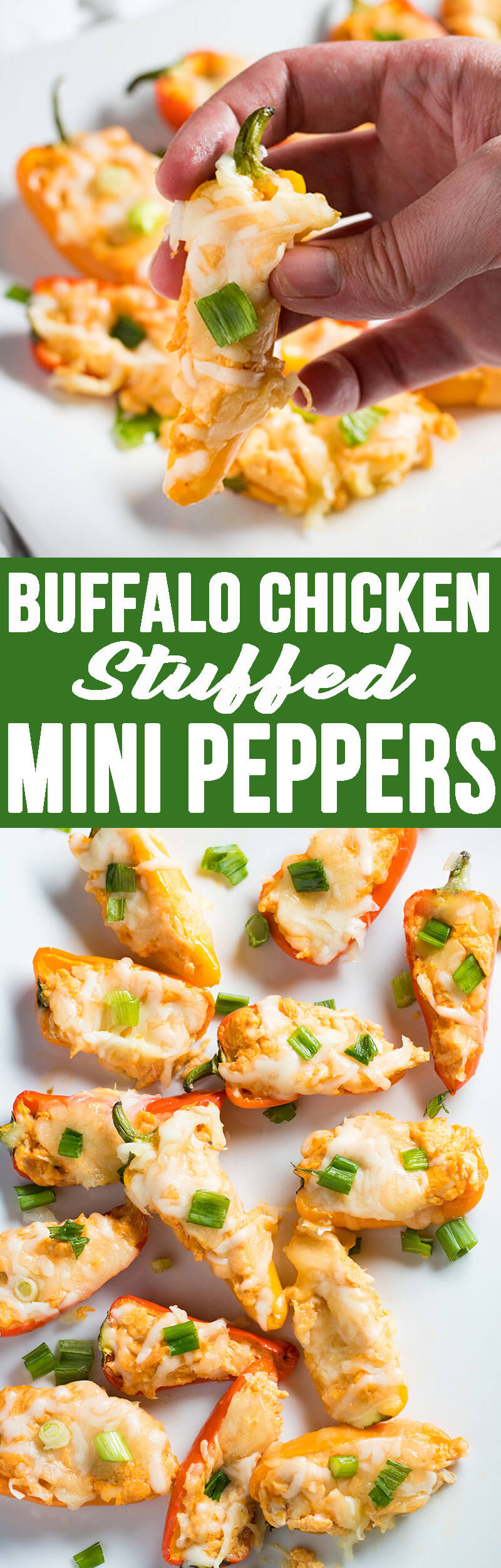 Buffalo Chicken Stuffed Mini Peppers make for an excellent appetizer, especially during football season