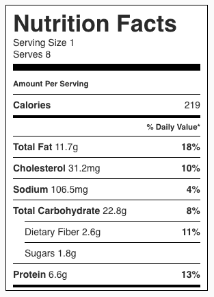 Roasted Garlic Bleu Cheese Mashed Potatoes Nutrition Facts