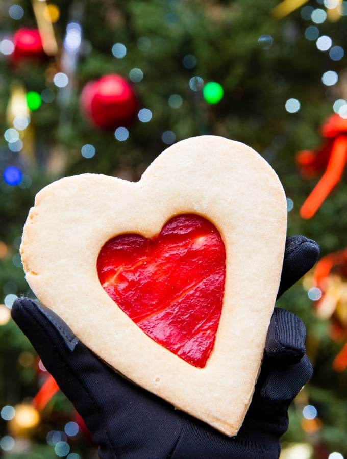 A delicious linger cookie, Christmas market food