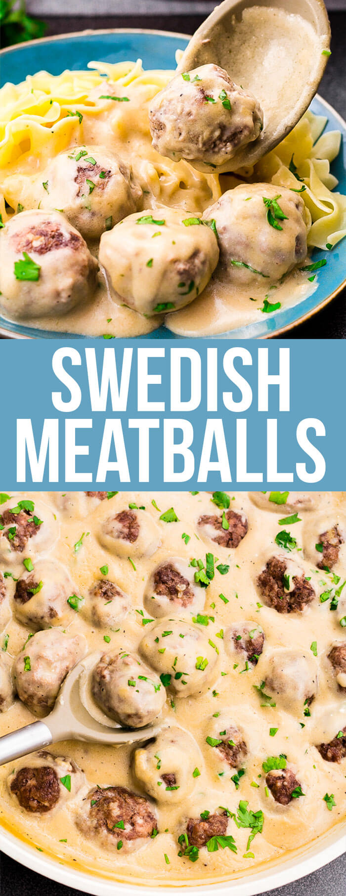 Swedish Meatballs: Mouthwatering, homemade, Swedish meatballs smothered in a decadent sauce; these beat IKEA every time!