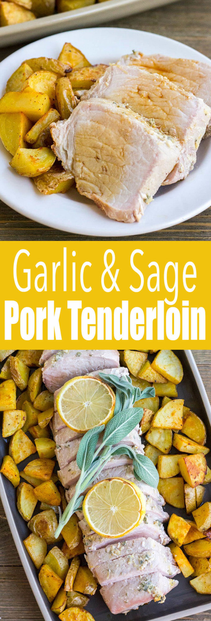 Garlic and Sage Rubbed Pork Tenderloin: This Pork Tenderloin recipe is an easy 30-minute dinner that's great for busy weeknights, but it's special enough for an intimate holiday meal too!