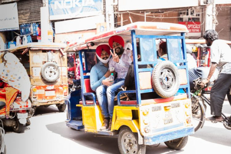 The tuk tuts of Old Delhi India