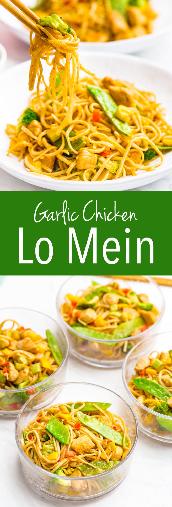 Garlic chicken Low Mein is an easy asian inspired meal