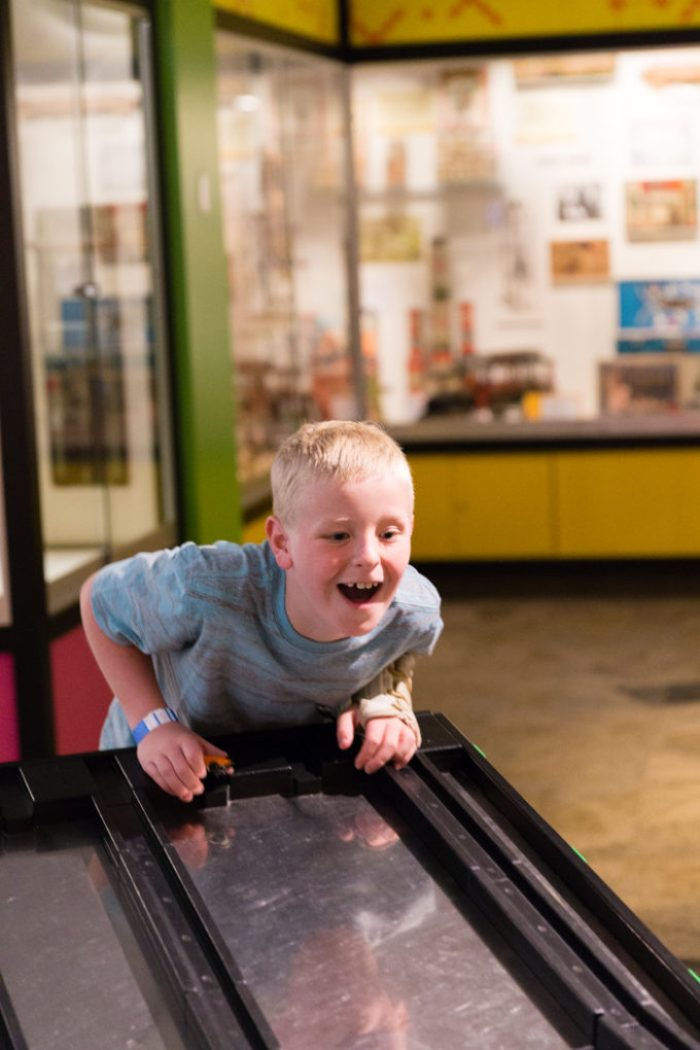 Having fun at the Strong Museum, museum of play in Rochester NY