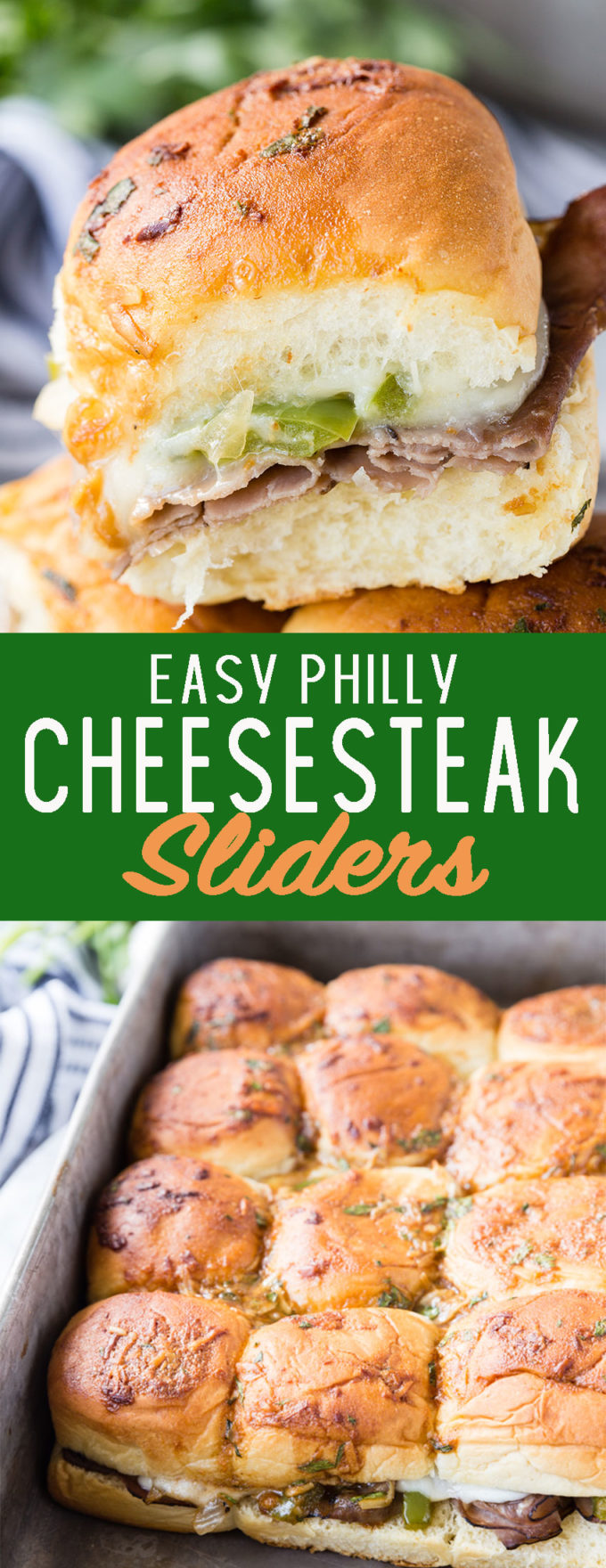 Easy Philly cheesesteak Sliders! These are to die for delicious.