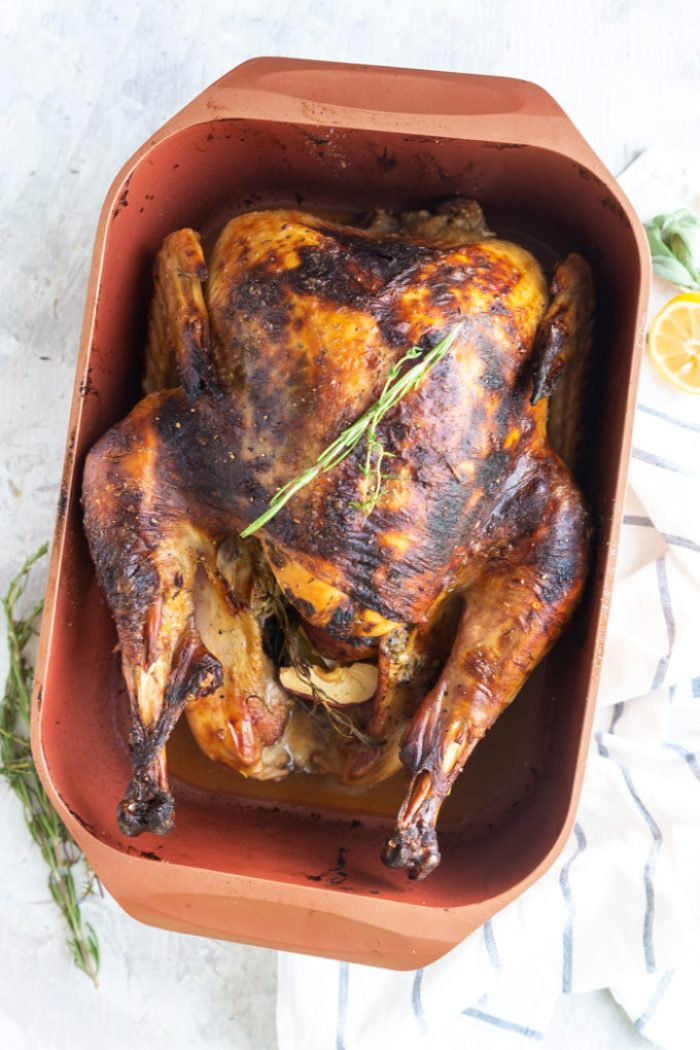 Easy Roast Turkey, a perfect way to roast a turkey for Thanksgiving