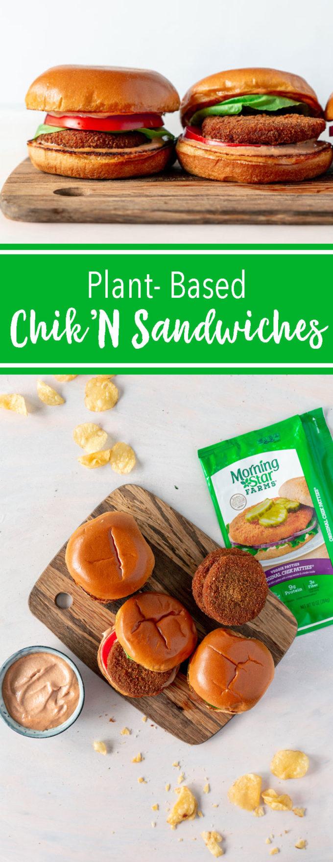 Plant based chicken sandwiches