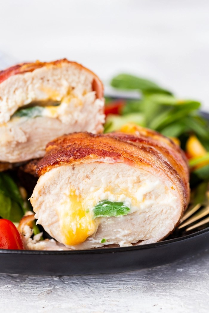 Air fryer jalapeno pepper stuffed chicken breast