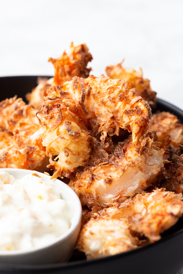 Delicious and easy air fryer coconut shrimp