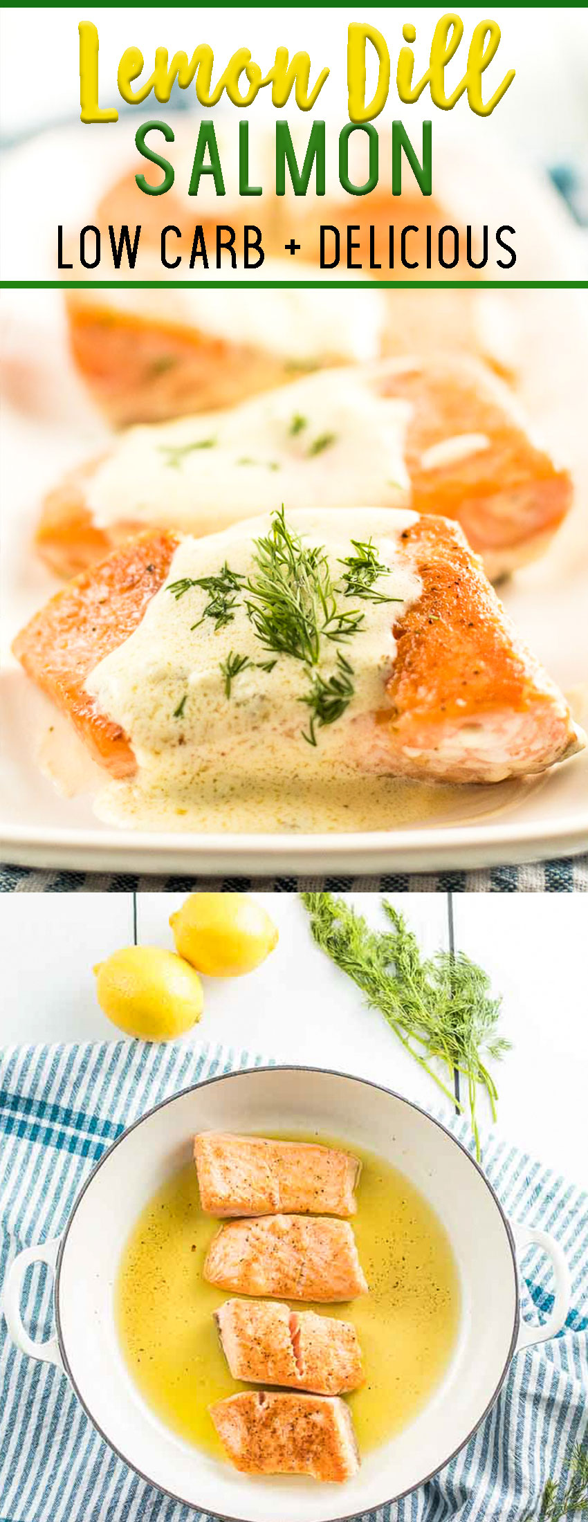 Lemon Dill Salmon, low carb salmon recipe that is so delicious
