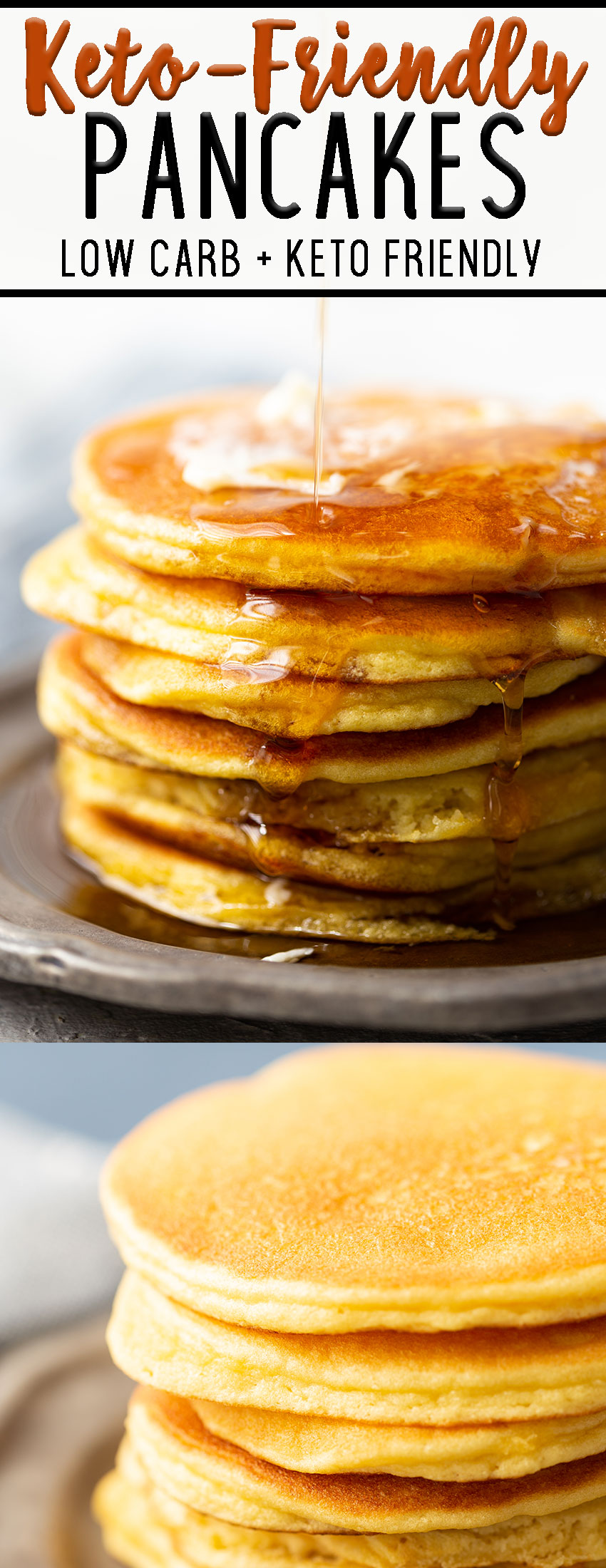 Keto Pancakes for a low carb diet- These amazing pancakes make eating low carb at breakfast so easy.
