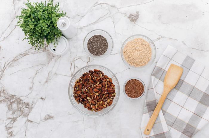 four spice bowls for keto granola